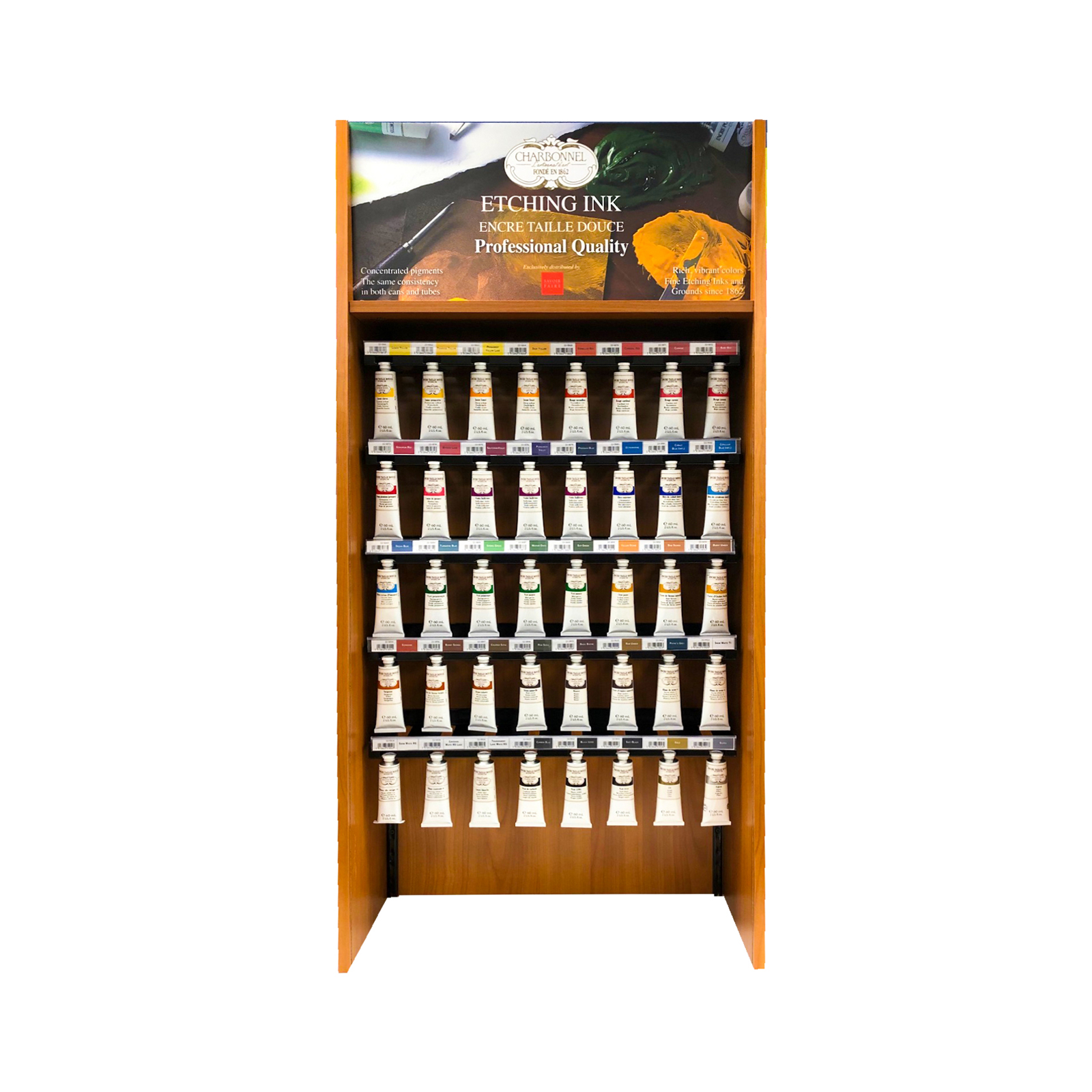 Traditional Etching Ink Display of 50